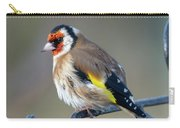 Fluffy Goldfinch Carry-all Pouch