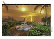 Foggy Fountain And Bridge Carry-all Pouch by Tom Claud