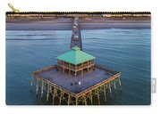 Folly Beach Pier Aerial View Carry-all Pouch by Donnie Whitaker
