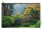 Footbridge In Japanese Garden Carry-all Pouch