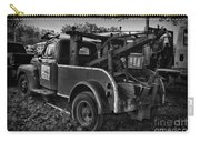 Ford F4 Tow The Truck Business End Black And White Carry-all Pouch