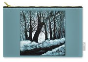 Forest Misty Dawn In Late Fall Carry-all Pouch