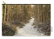 Forest Track In Winter Carry-all Pouch