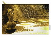 Forsyth Park Tritons In A Cascade Of Gold Carry-all Pouch