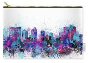 Fort Worth Skyline Color Splatter Carry-all Pouch