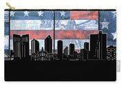Fort Worth Skyline Flag 3 Carry-all Pouch