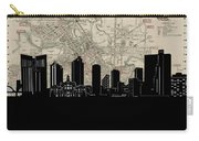 Fort Worth Skyline Map Carry-all Pouch