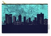Fort Worth Skyline Map Blue 2 Carry-all Pouch