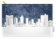 Fort Worth Skyline Map Blue Carry-all Pouch