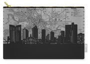 Fort Worth Skyline Map Grey Carry-all Pouch