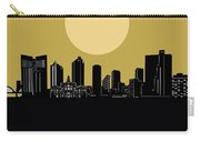 Fort Worth Skyline Minimalism Yellow Carry-all Pouch
