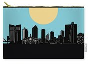 Fort Worth Skyline Minimalsim Blue Carry-all Pouch