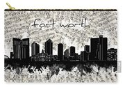 Fort Worth Skyline Music Sheet Carry-all Pouch