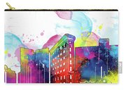 Fort Worth Skyline Panorama Watercolor 2 Carry-all Pouch