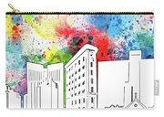 Fort Worth Skyline Panorama Watercolor Carry-all Pouch