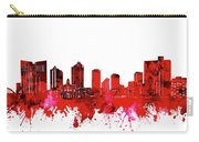 Fort Worth Skyline Red Carry-all Pouch