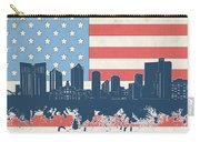 Fort Worth Skyline Usa Flag Carry-all Pouch