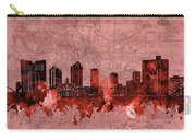 Fort Worth Skyline Vintage Red Carry-all Pouch