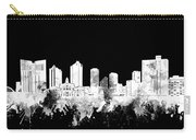 Fort Worth Skyline Watercolor Black And White 2 Carry-all Pouch