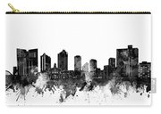 Fort Worth Skyline Watercolor Black And White Carry-all Pouch