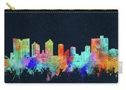 Fort Worth Skyline Watercolor Black Carry-all Pouch