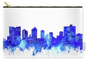 Fort Worth Skyline Watercolor Blue Carry-all Pouch