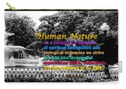 Fountain With Quote From Dreams Of The Immortal City Savannah Carry-all Pouch