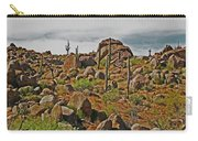 Four Peaks Road Granite Boulders And Saguraros Carry-all Pouch