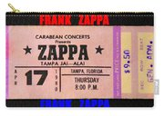 Frank Zappa 1980 Concert Ticket Carry-all Pouch