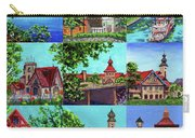Frankenmuth Downtown Michigan Painting Collage II Carry-all Pouch