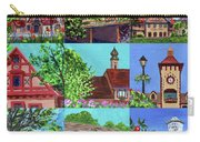 Frankenmuth Downtown Michigan Painting Collage V Carry-all Pouch