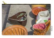 French Flea Market Pottery Carry-all Pouch