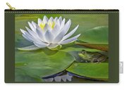 Frog And Lily Carry-all Pouch