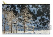 Frost Covered Trees On The Portage Glacier Highway Alaska Carry-all Pouch