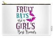 Fruit Bat Conservation Halloween Flying Fox Women Light Carry-all Pouch