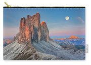 Full Moon Morning On Tre Cime Di Lavaredo Carry-all Pouch by Dmytro Korol