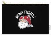 Funny Christmas Xmas Fishing Santa Holiday Gift Idea Carry-all Pouch