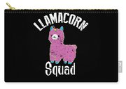 Funny Llamacorn Squad Unicorn Alpaca Lama Carry-all Pouch
