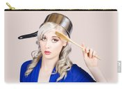 Funny Pin Up Housewife Saluting For Cooking Duties Carry-all Pouch