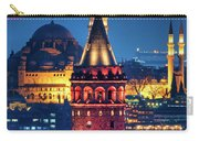 Galata Tower And Suleymaniye Mosque Carry-all Pouch