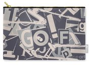 Game Of Golf Carry-all Pouch