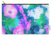 Garden Flowers In Pink, Green And Blue Carry-all Pouch