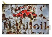 Gargoyle Mobiloil Vacuum Oil Co Rusty Sign Carry-all Pouch