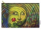 Gautama Buddha Ripple Effect Portrait Carry-all Pouch