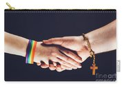 Gay And Christian Person Shaking Hands Carry-all Pouch