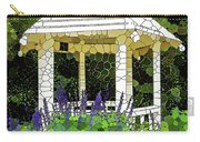Gazebo In A Beautiful Public Garden Park 3 Carry-all Pouch
