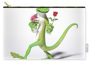 Gecko In Love Carry-all Pouch