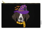 German Shorthair Halloween Witch Hat Flying Bats Carry-all Pouch