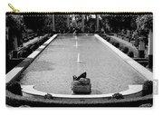 Getty Villa Massive Pool Black White Landscape  Carry-all Pouch