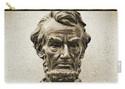 Gettysburg Battlefield - President Abraham Lincoln Carry-all Pouch